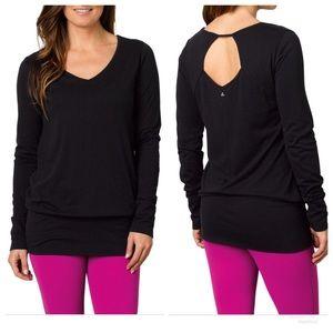 NWT Prana Cantena Top Black Long Sleeve Small [E2]